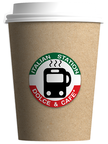 Large Coffee Cup with Italian Station Logo