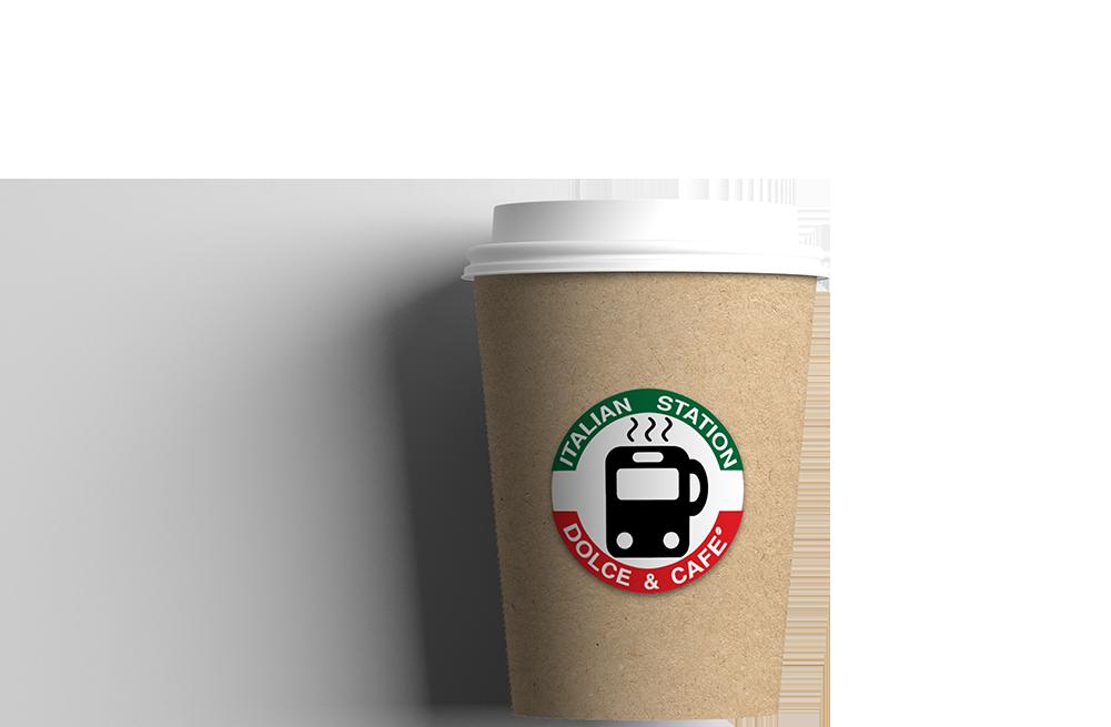 itallian station coffee cup