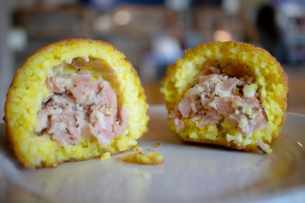 ham and cheese arancine
