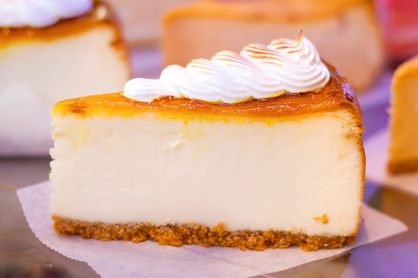 keylime pie topped with whipped cream
